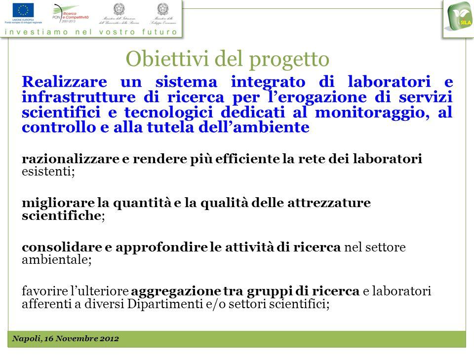 Obiettivi del progetto Realizzare un sistema integrato di laboratori e infrastrutture di ricerca per lerogazione di servizi scientifici e tecnologici