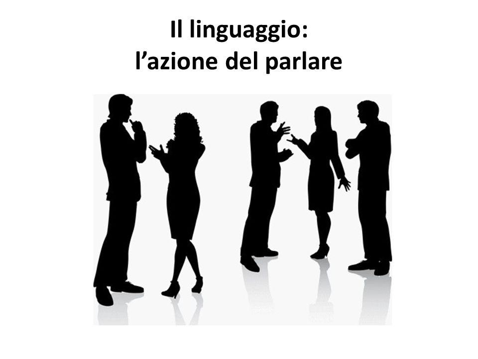 Il linguaggio: lazione del parlare