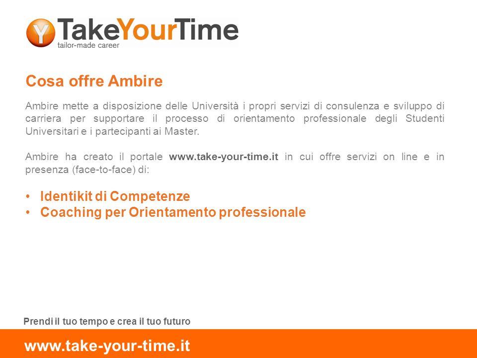 Cosa offre Ambire Ambire mette a disposizione delle Università i propri servizi di consulenza e sviluppo di carriera per supportare il processo di orientamento professionale degli Studenti Universitari e i partecipanti ai Master.