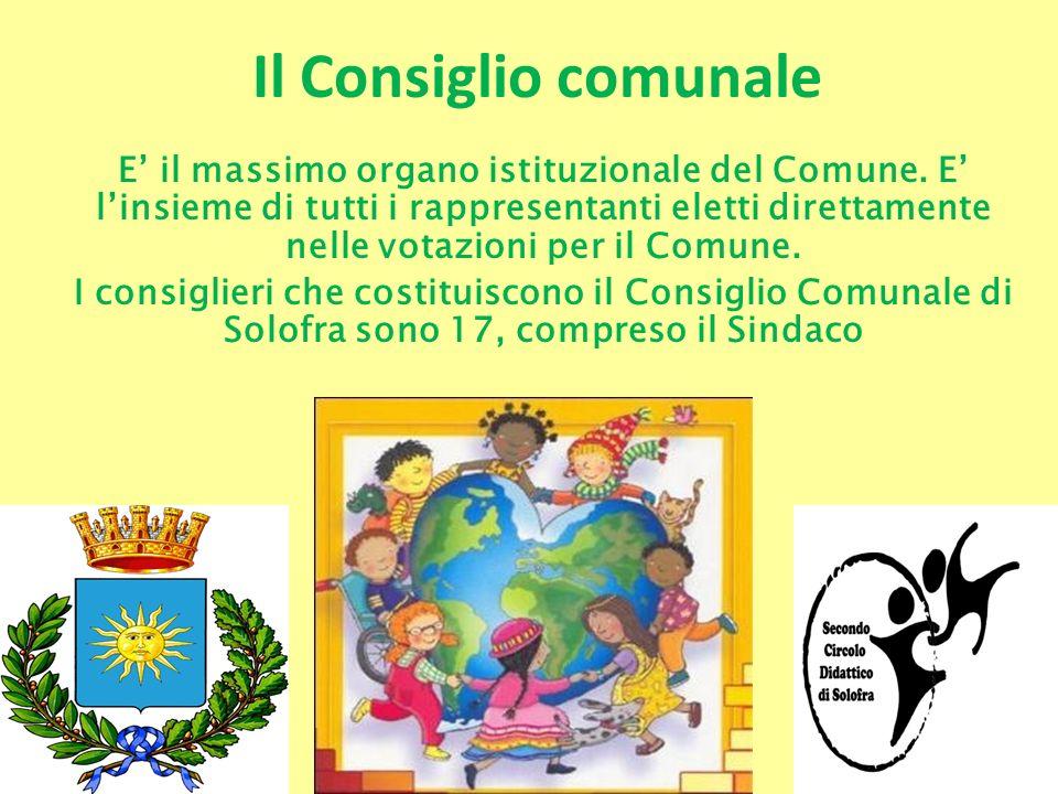 Il Consiglio comunale E il massimo organo istituzionale del Comune. E linsieme di tutti i rappresentanti eletti direttamente nelle votazioni per il Co
