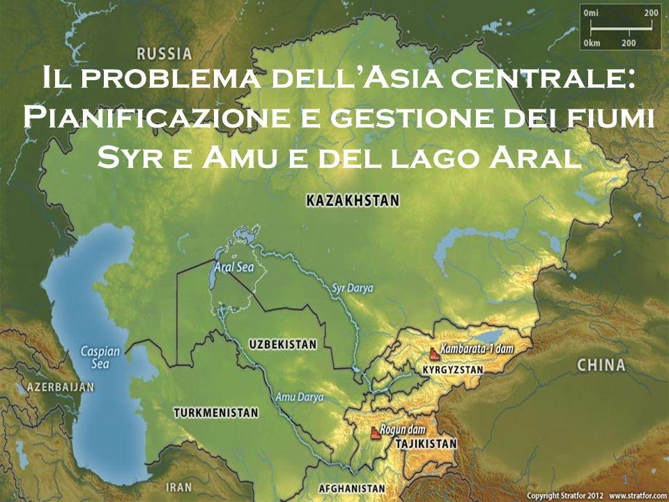 Il sistema è composto dal lago dAral e dai suoi affluenti, il fiume Syr e Amu che attraversano 5 nazioni : Kazakistan, Turkmenistan, Uzbekistan, Tagikistan, Kirghizistan.