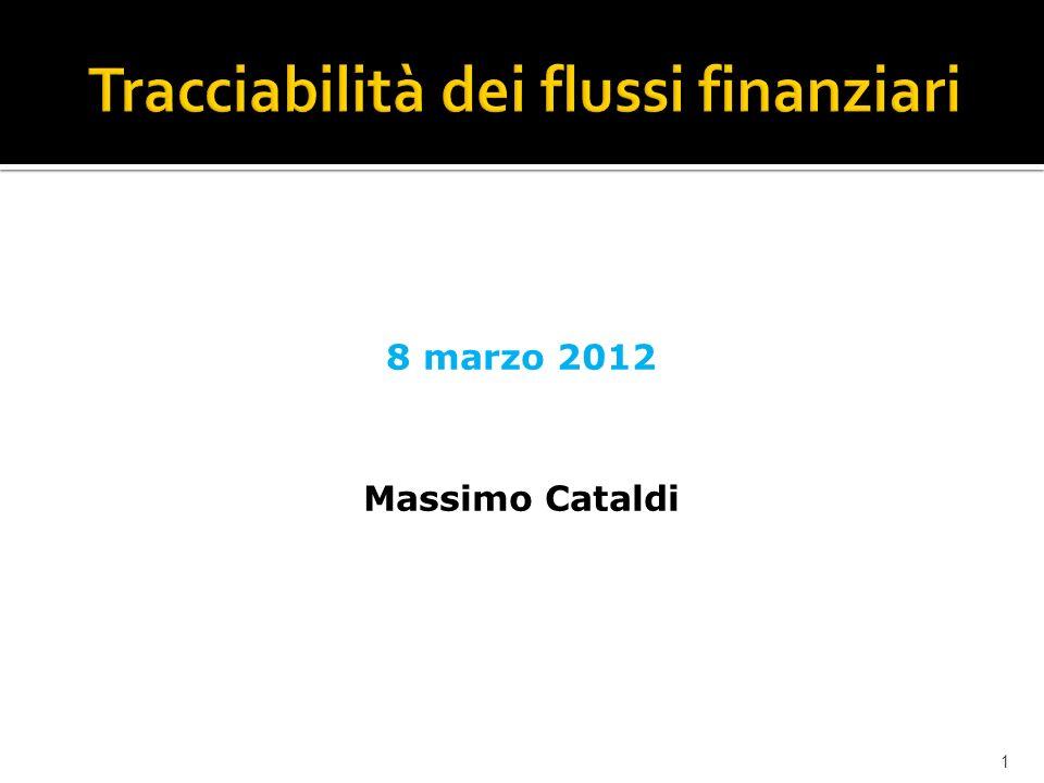 1 8 marzo 2012 Massimo Cataldi