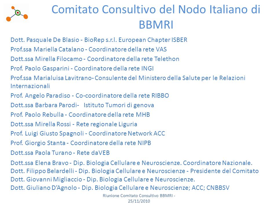Dott. Pasquale De Blasio - BioRep s.r.l.