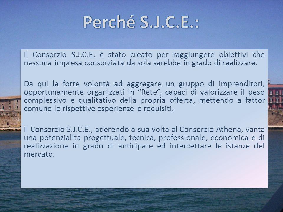 Il Consorzio S.J.C.E. è stato creato per raggiungere obiettivi che nessuna impresa consorziata da sola sarebbe in grado di realizzare. Da qui la forte