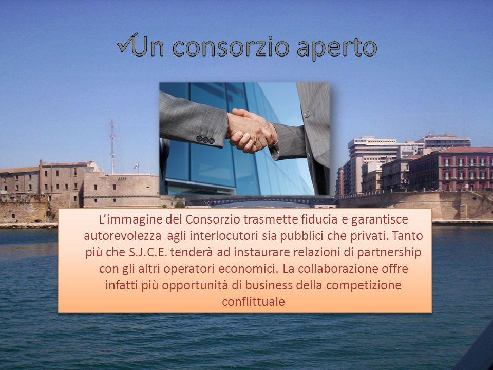 Limmagine del Consorzio trasmette fiducia e garantisce autorevolezza agli interlocutori sia pubblici che privati. Tanto più che S.J.C.E. tenderà ad in