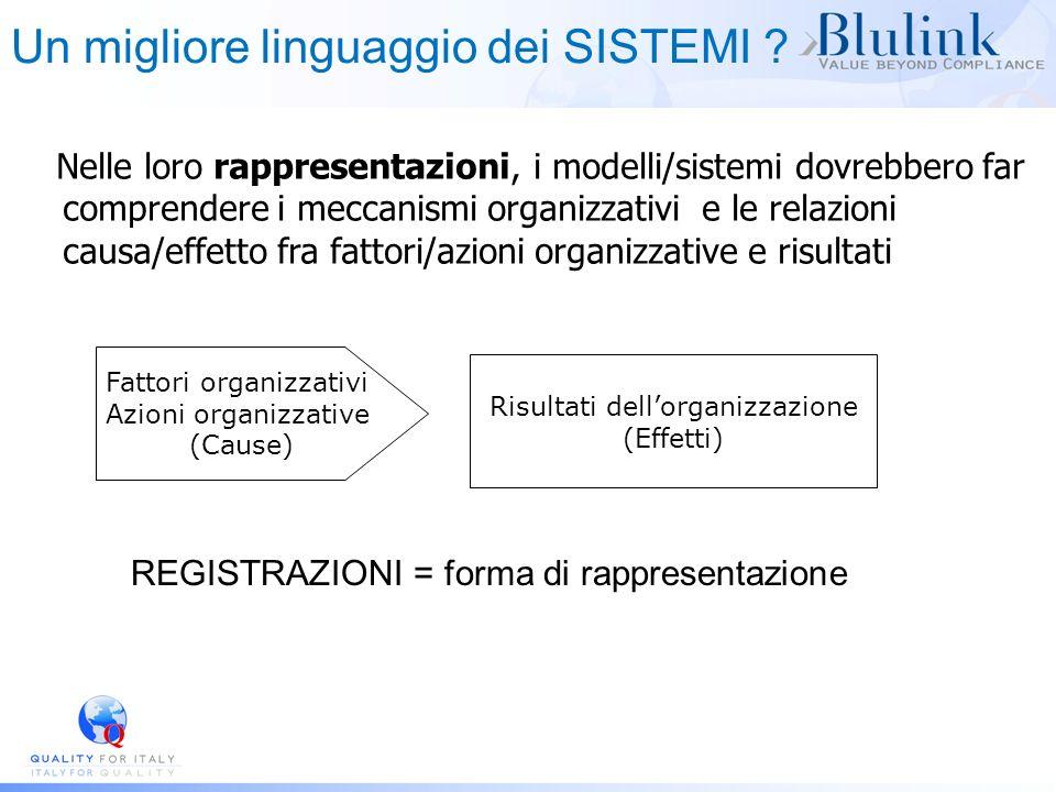Nelle loro rappresentazioni, i modelli/sistemi dovrebbero far comprendere i meccanismi organizzativi e le relazioni causa/effetto fra fattori/azioni o