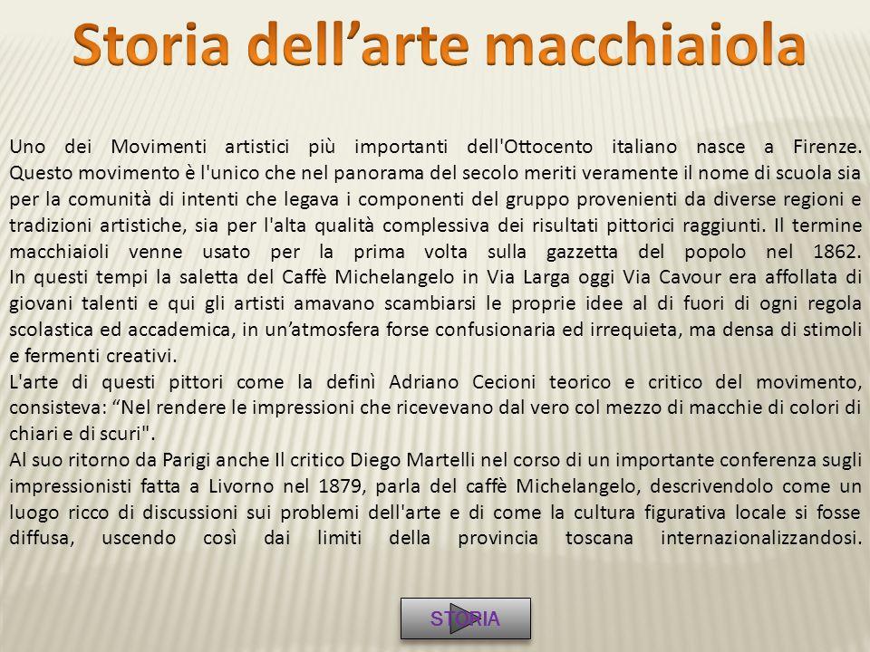 Uno dei Movimenti artistici più importanti dell'Ottocento italiano nasce a Firenze. Questo movimento è l'unico che nel panorama del secolo meriti vera
