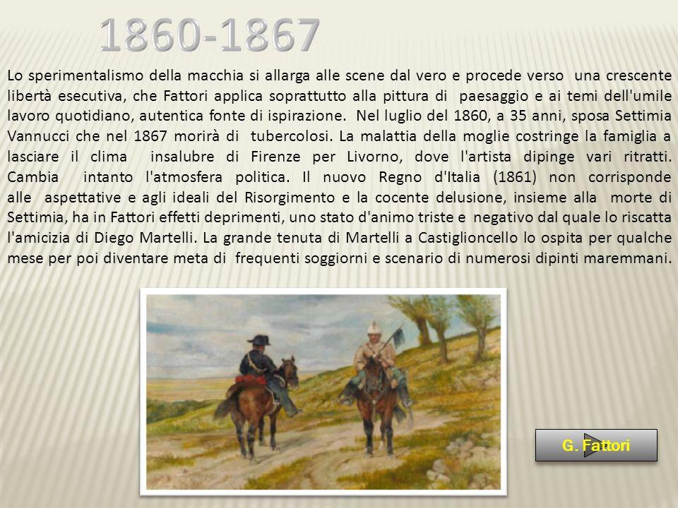 Nel 1869 Fattori riceve dall Accademia di Belle Arti di Firenze la nomina a professore di pittura.