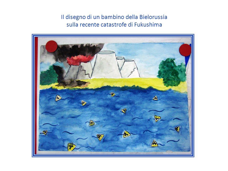 Il disegno di un bambino della Bielorussia sulla recente catastrofe di Fukushima