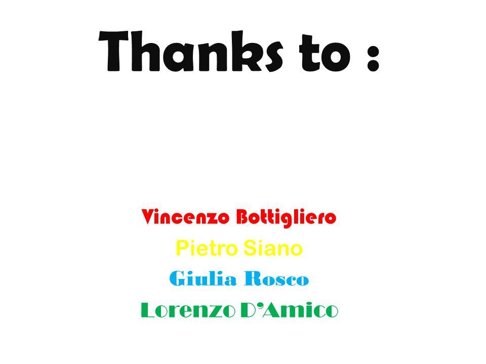 Thanks to : Vincenzo Bottigliero Pietro Siano Giulia Rosco Lorenzo DAmico