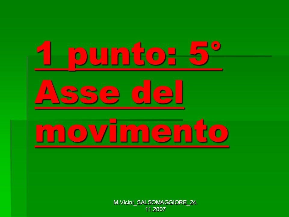 M.Vicini_SALSOMAGGIORE_24. 11.2007 1 punto: 5° Asse del movimento