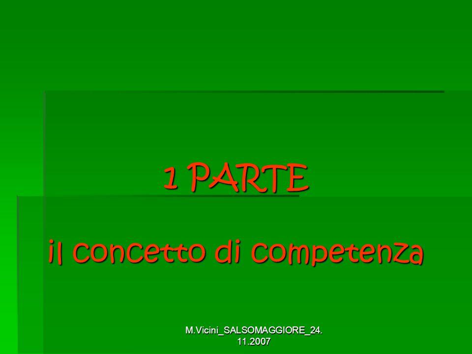 M.Vicini_SALSOMAGGIORE_24. 11.2007 1 PARTE il concetto di competenza