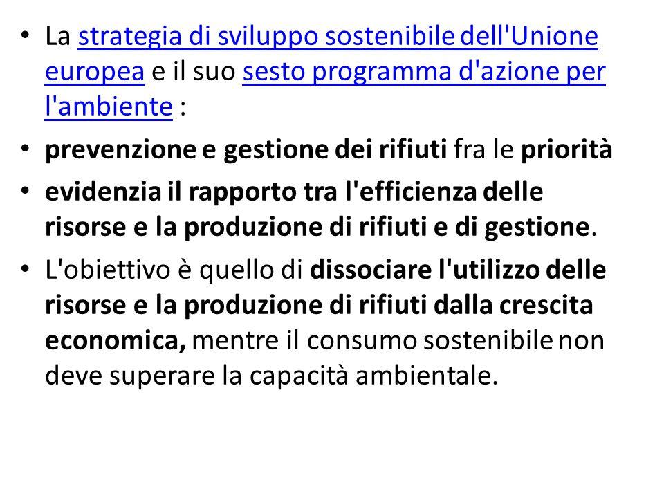 La strategia di sviluppo sostenibile dell'Unione europea e il suo sesto programma d'azione per l'ambiente :strategia di sviluppo sostenibile dell'Unio