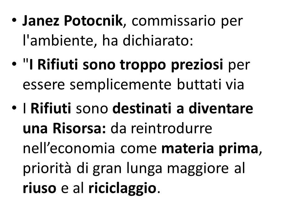 Janez Potocnik, commissario per l'ambiente, ha dichiarato: