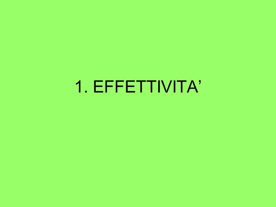 1. EFFETTIVITA