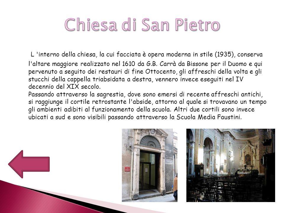 Sorta nel 1055 come abbazia Benedettina, la chiesa è l annesso convento, ebbero per secoli la funzione di ospitare i numerosi pellegrini che transitavano lungo la Via Francigena, una delle arterie più importanti del medioevo che da Canterbury portava a Roma, passando anche per Piacenza.