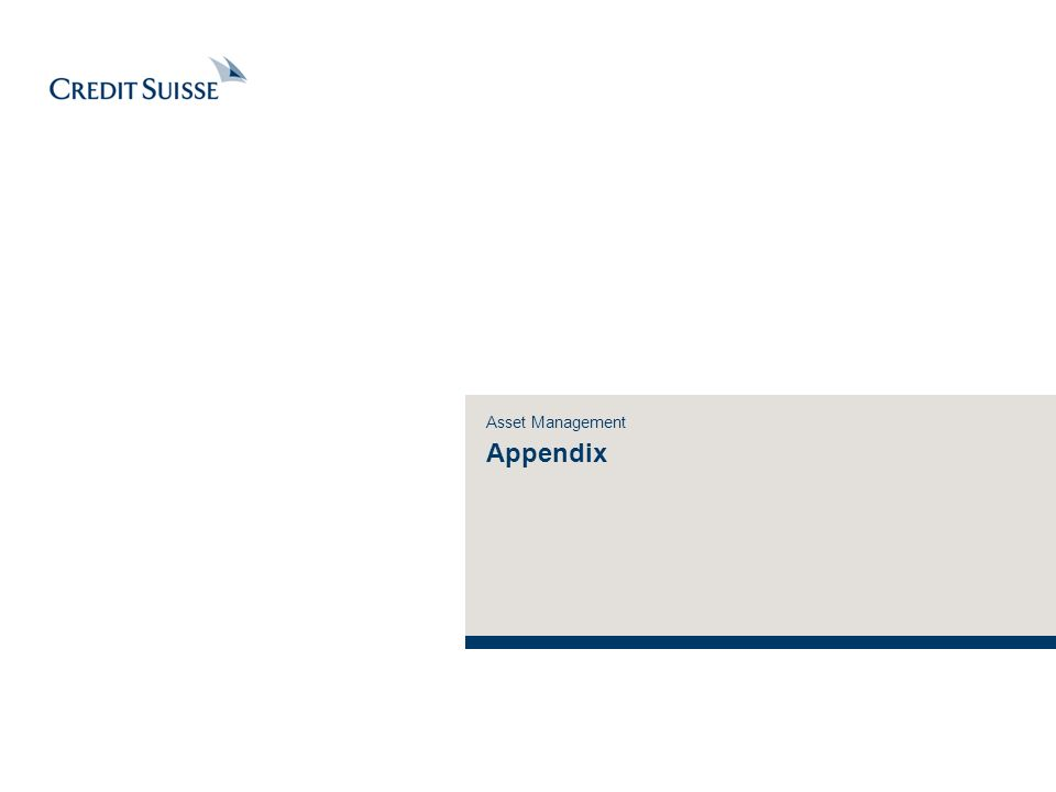 Asset Management Appendix