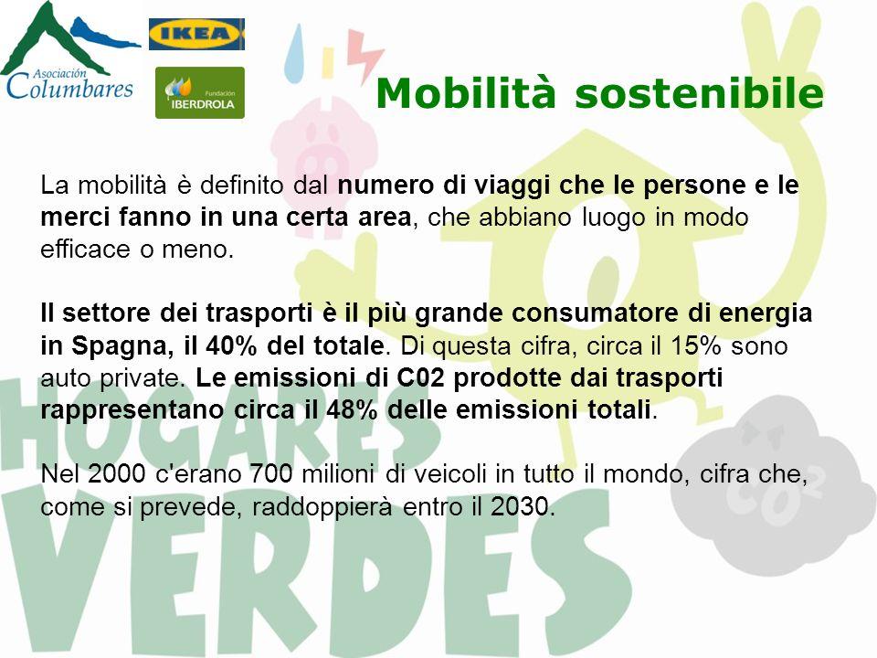 Mobilità sostenibile La mobilità è definito dal numero di viaggi che le persone e le merci fanno in una certa area, che abbiano luogo in modo efficace o meno.