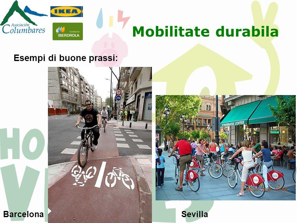 Mobilitate durabila Esempi di buone prassi: Barcelona Sevilla
