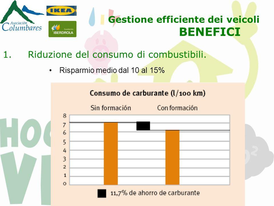 1.Riduzione del consumo di combustibili.