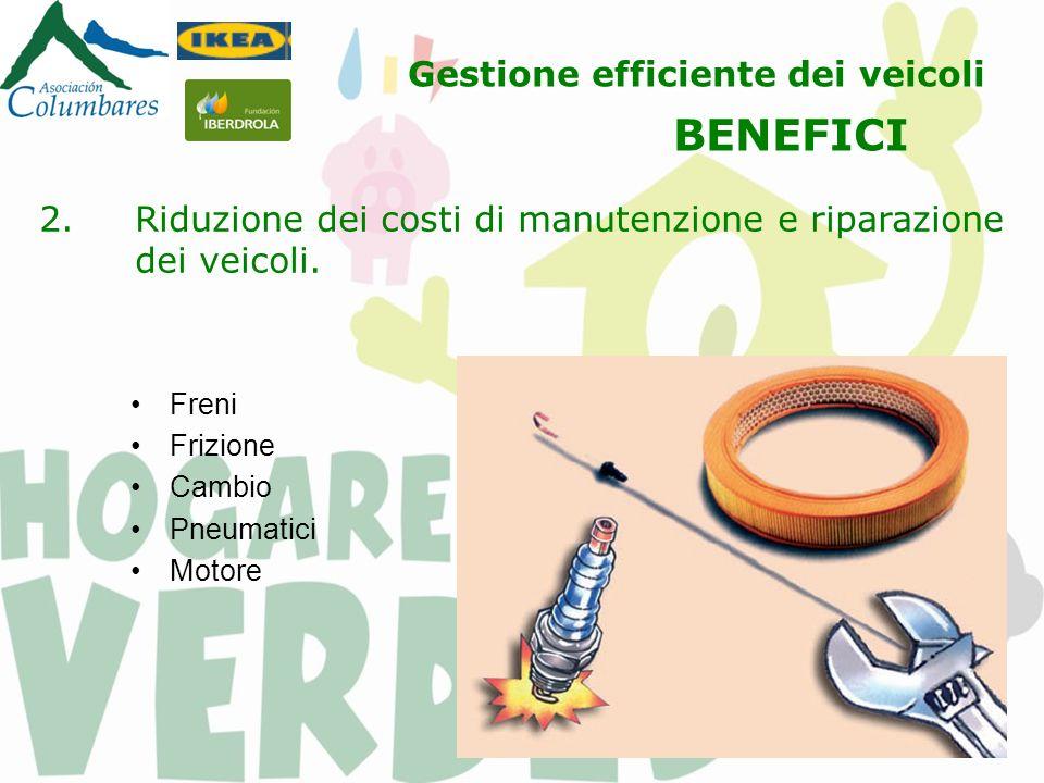 2.Riduzione dei costi di manutenzione e riparazione dei veicoli.