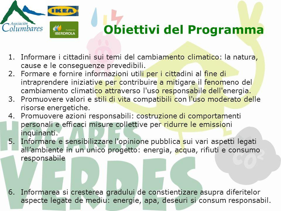 Plan de actiune: 1.Famiglie: partecipazione diretta di 100 famiglie della Regione di Murcia.