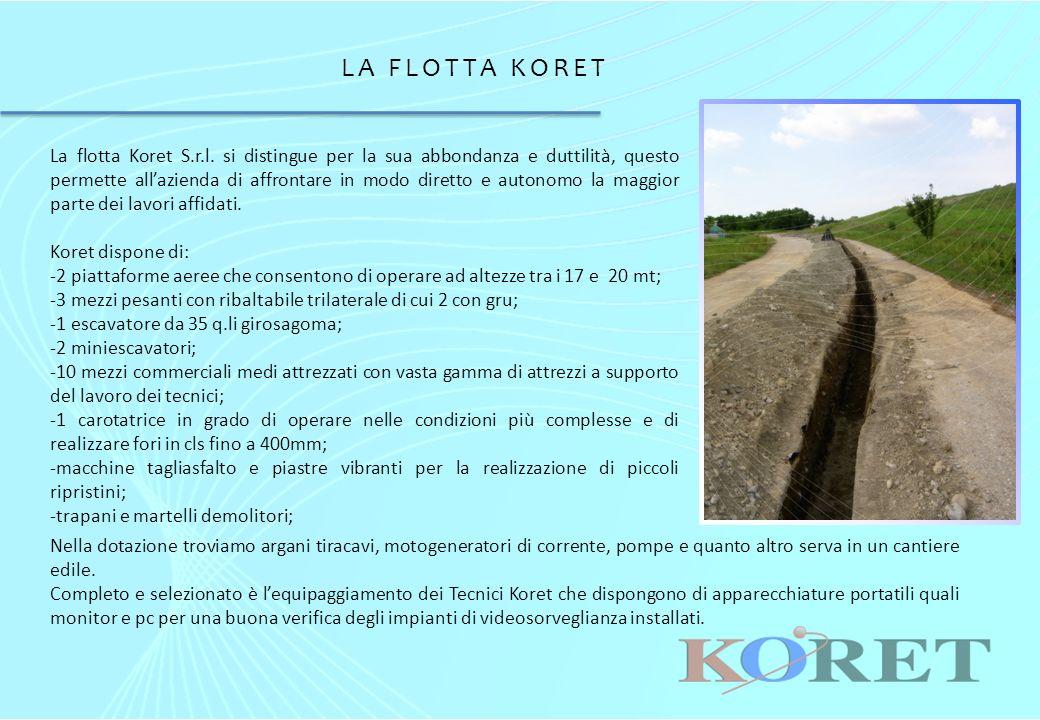 LA FLOTTA KORET La flotta Koret S.r.l.