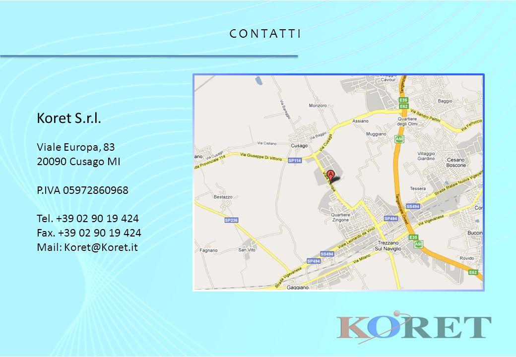 CONTATTI Koret S.r.l. Viale Europa, 83 20090 Cusago MI P.IVA 05972860968 Tel.