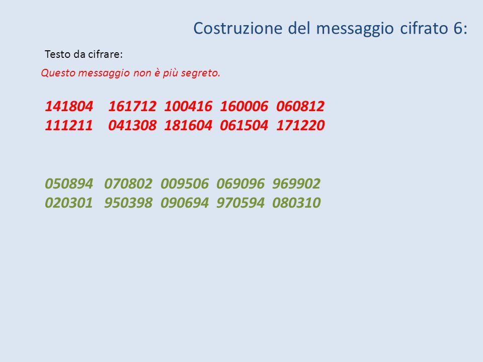 xx^2x^3x^4x^5x^6x^7x^8x^9x^10 00000000000 11111111111 22431243124 33421342134 44141414141 Osservazioni: 1.gli esponenti pari non producono una funzione biunivoca 2.ci sono colonne particolari [1] 3.le potenze si ripetono con ciclicità – alcune funzioni coincidono…