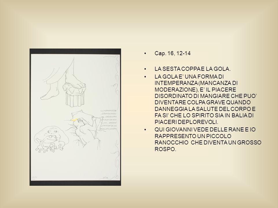 Cap. 16, 12-14 LA SESTA COPPA E LA GOLA.