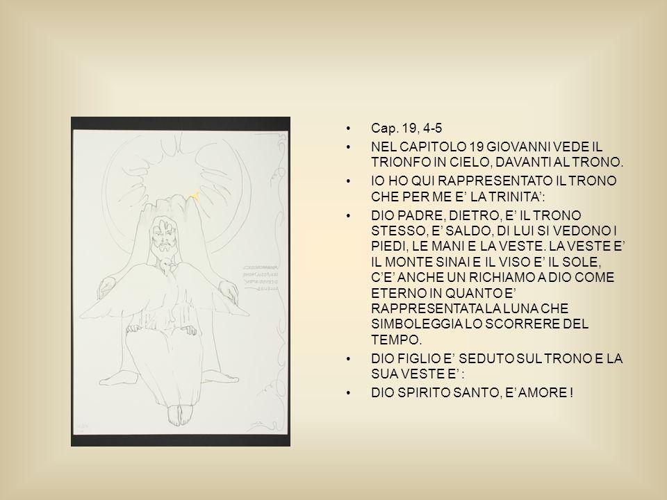 Cap. 19, 4-5 NEL CAPITOLO 19 GIOVANNI VEDE IL TRIONFO IN CIELO, DAVANTI AL TRONO.