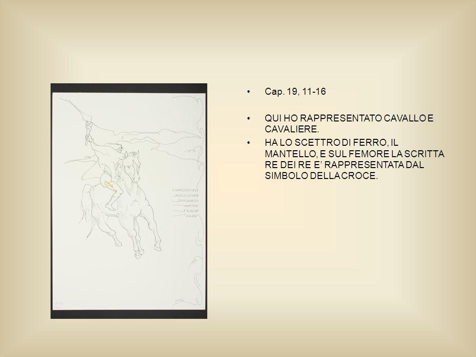Cap. 19, 11-16 QUI HO RAPPRESENTATO CAVALLO E CAVALIERE.