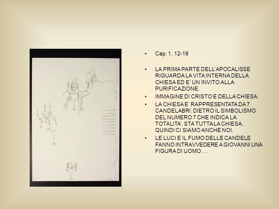Cap. 1, 12-16 LA PRIMA PARTE DELLAPOCALISSE RIGUARDA LA VITA INTERNA DELLA CHIESA ED E UN INVITO ALLA PURIFICAZIONE. IMMAGINE DI CRISTO E DELLA CHIESA