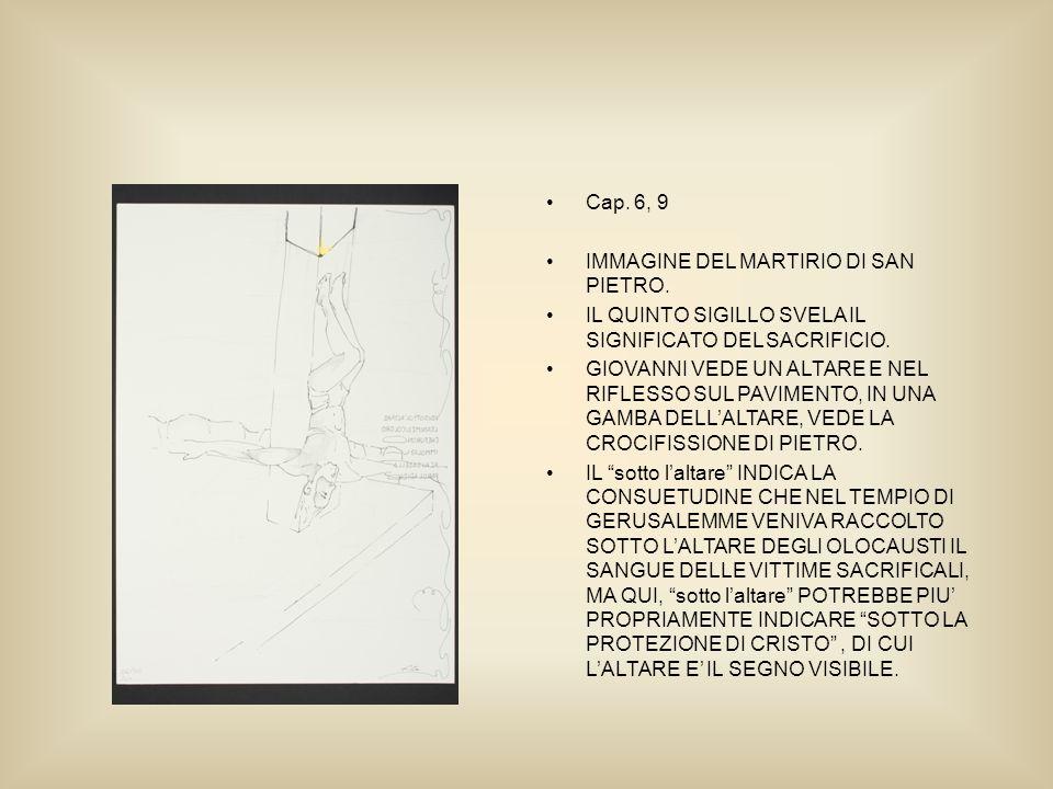 Cap. 6, 9 IMMAGINE DEL MARTIRIO DI SAN PIETRO.