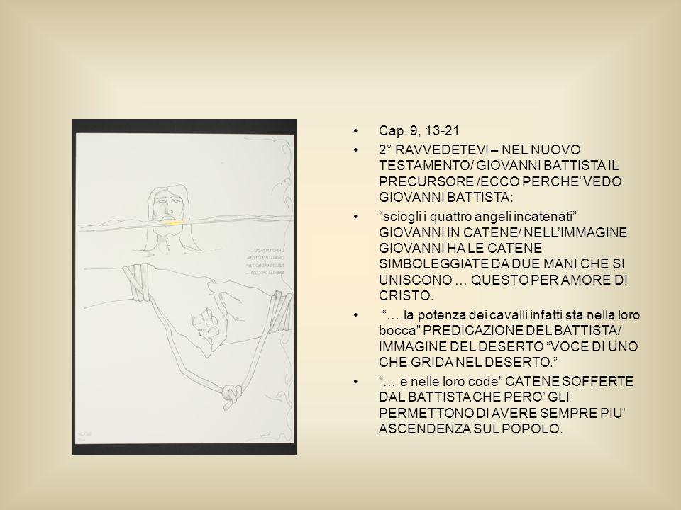 Cap. 9, 13-21 2° RAVVEDETEVI – NEL NUOVO TESTAMENTO/ GIOVANNI BATTISTA IL PRECURSORE /ECCO PERCHE VEDO GIOVANNI BATTISTA: sciogli i quattro angeli inc