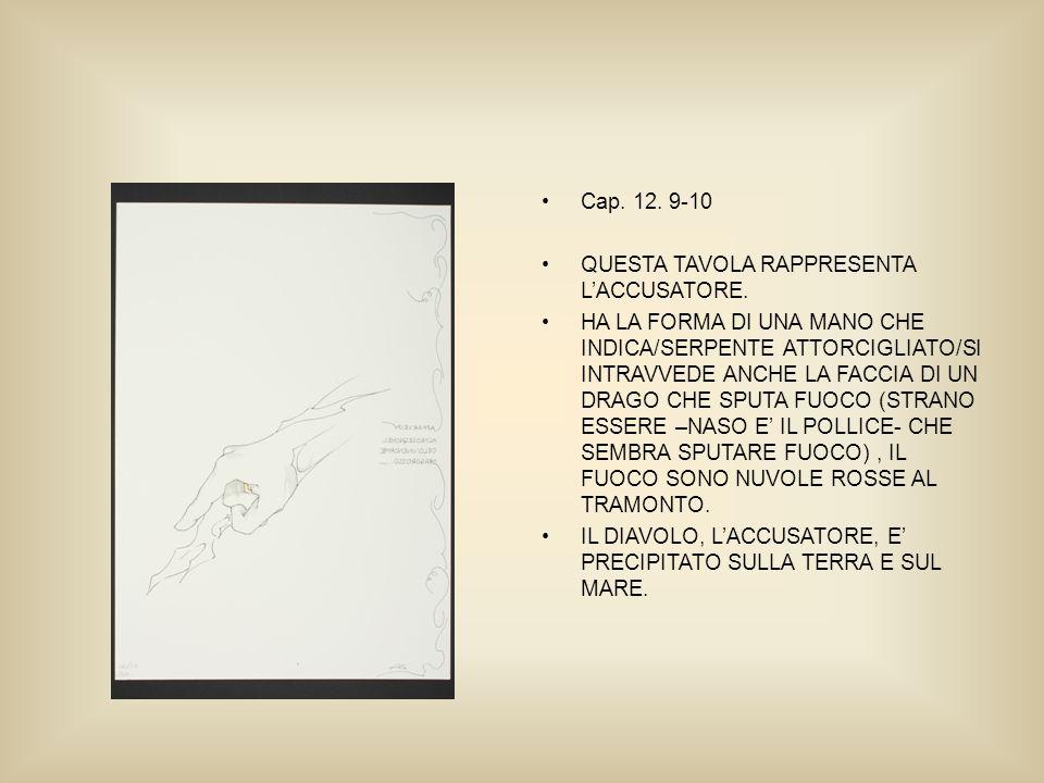Cap. 12. 9-10 QUESTA TAVOLA RAPPRESENTA LACCUSATORE.