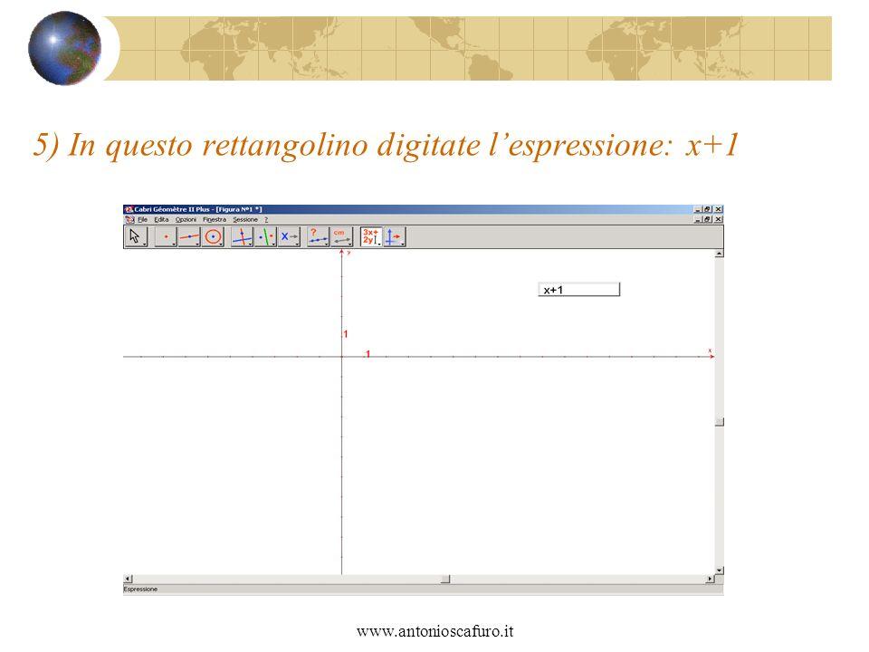 www.antonioscafuro.it 5) In questo rettangolino digitate lespressione: x+1