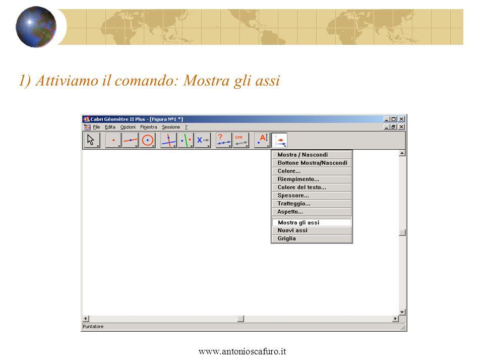 www.antonioscafuro.it 1) Attiviamo il comando: Mostra gli assi