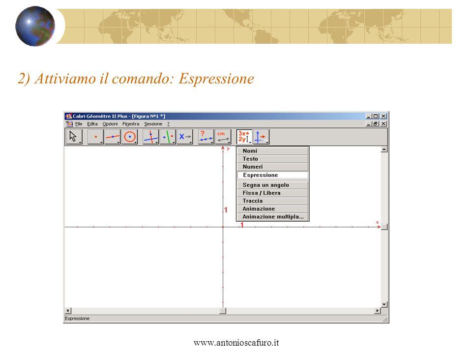 www.antonioscafuro.it 2) Attiviamo il comando: Espressione