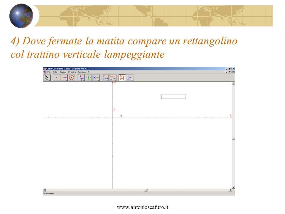 www.antonioscafuro.it 4) Dove fermate la matita compare un rettangolino col trattino verticale lampeggiante