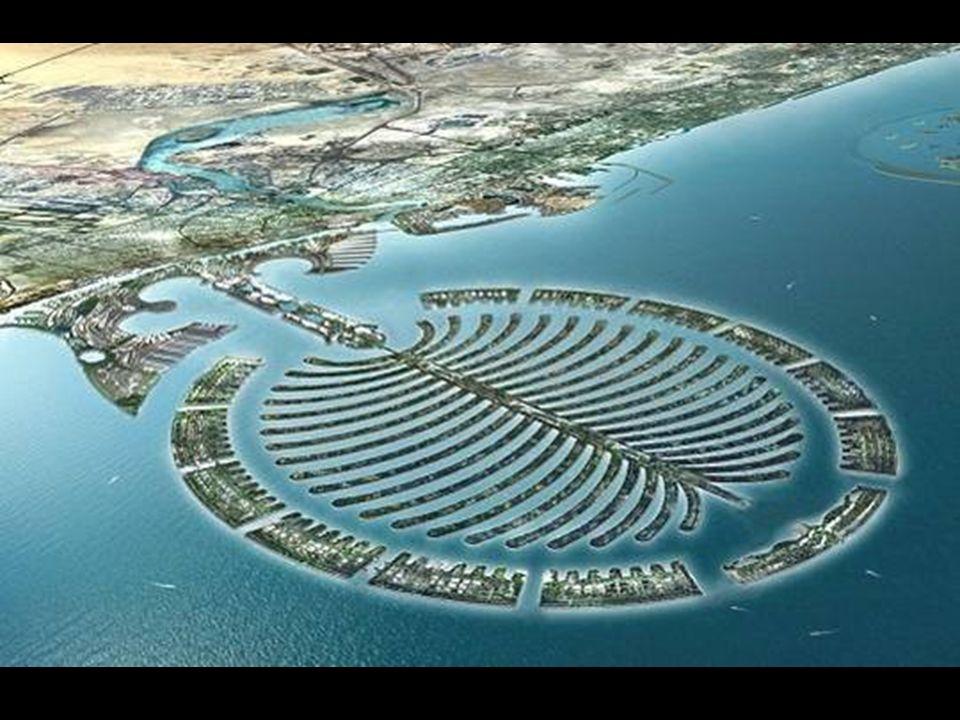 Lisola-palma di Dubai Una nuova tecnologia olandese di costruzione di dighe rende possibile costruire un così elevato numero di isole.