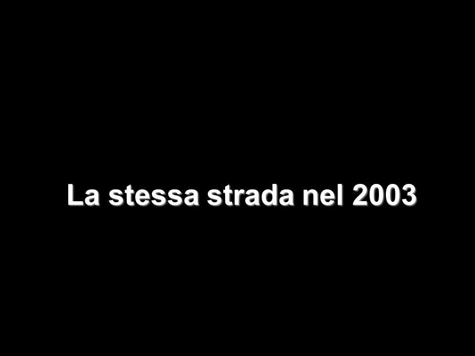 La stessa strada nel 2003