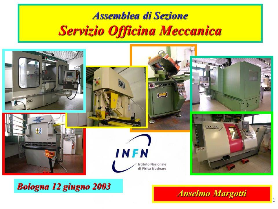 1 Assemblea di Sezione Servizio Officina Meccanica Anselmo Margotti Bologna 12 giugno 2003