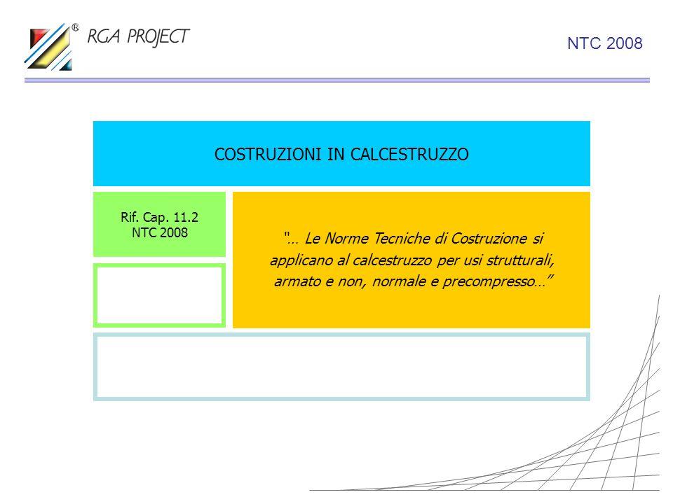 COSTRUZIONI IN CALCESTRUZZO … Le Norme Tecniche di Costruzione si applicano al calcestruzzo per usi strutturali, armato e non, normale e precompresso…