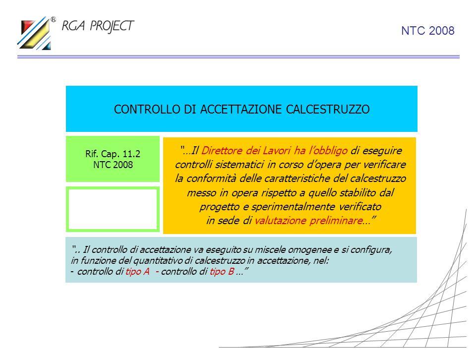 CONTROLLO DI ACCETTAZIONE CALCESTRUZZO …Il Direttore dei Lavori ha lobbligo di eseguire controlli sistematici in corso dopera per verificare la confor