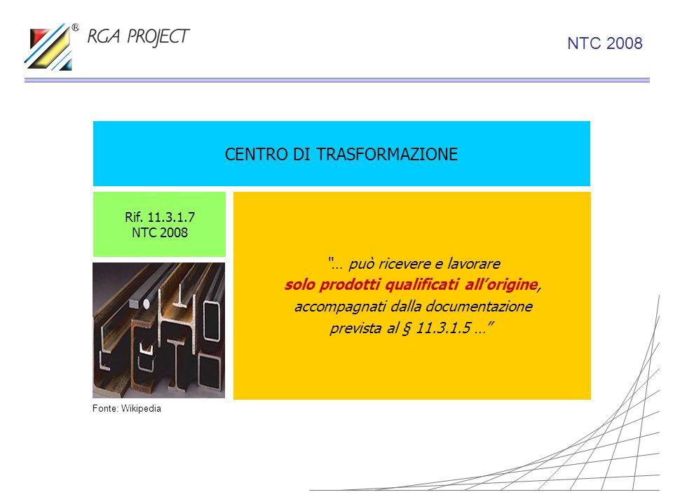 CENTRO DI TRASFORMAZIONE … può ricevere e lavorare solo prodotti qualificati allorigine, accompagnati dalla documentazione prevista al § 11.3.1.5 … Ri