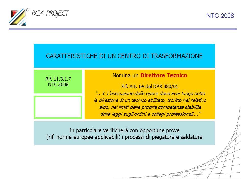 CARATTERISTICHE DI UN CENTRO DI TRASFORMAZIONE Nomina un Direttore Tecnico Rif. Art. 64 del DPR 380/01.. 3. L'esecuzione delle opere deve aver luogo s