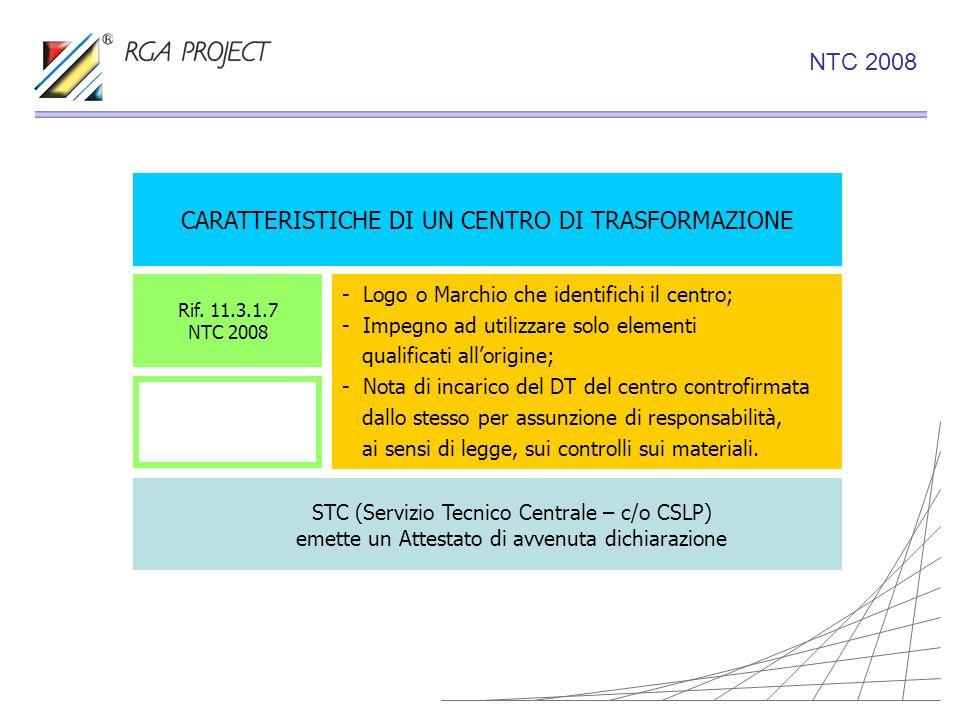 CARATTERISTICHE DI UN CENTRO DI TRASFORMAZIONE - Logo o Marchio che identifichi il centro; - Impegno ad utilizzare solo elementi qualificati allorigin