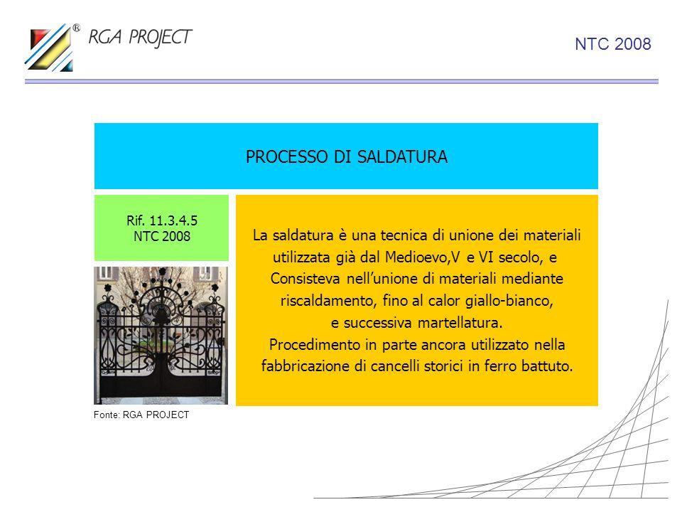PROCESSO DI SALDATURA La saldatura è una tecnica di unione dei materiali utilizzata già dal Medioevo,V e VI secolo, e Consisteva nellunione di materia