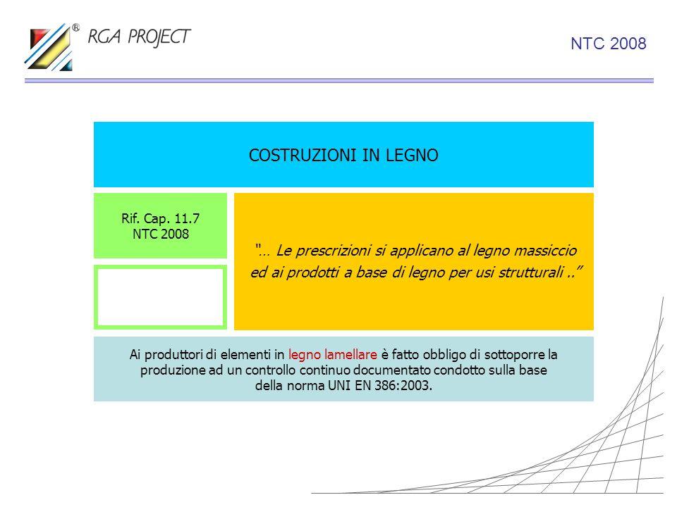 COSTRUZIONI IN LEGNO … Le prescrizioni si applicano al legno massiccio ed ai prodotti a base di legno per usi strutturali.. Rif. Cap. 11.7 NTC 2008 Ai